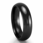 EDWARD MIRELL Black Titanium Comfort Fit Band - 6mm