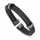 Edward Mirell Black Titanium Double Cable Cuff- THORN