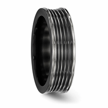 Edward Mirell Black Titanium Machined Band