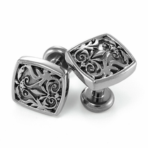 EDWARD MIRELL  Casted Square Titanium Cufflinks