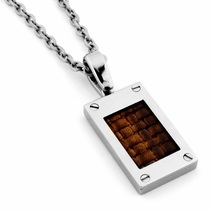 Edward Mirell Leather & Titanium Necklace
