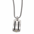Edward Mirell Titanium Necklace with 18kt gold Rivets and Black Titanium Cables