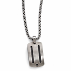 Edward Mirell Titanium Necklace with Black Titanium Cables and Black Spinel