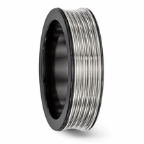 Edward Mirell Titanium Ridged Ring