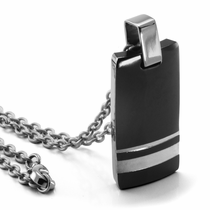Edward Mirell WELLINGTON Black Titanium and Sterling Necklace
