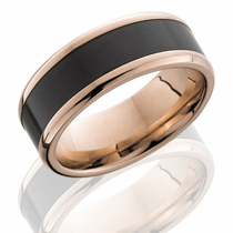 14K ROSE GOLD & ELYSIUM RING