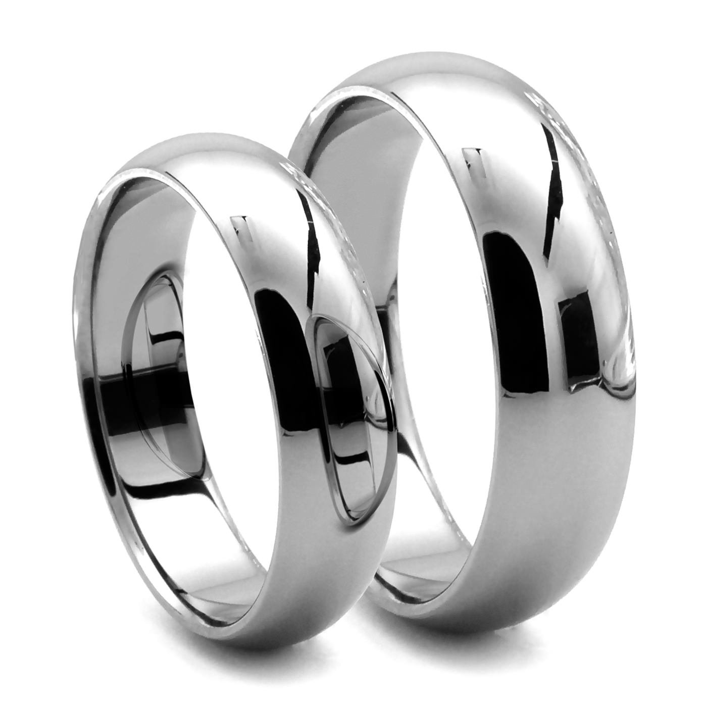 CLASSICO His Hers Tungsten Dome Rings JR Yates Wedding Bands