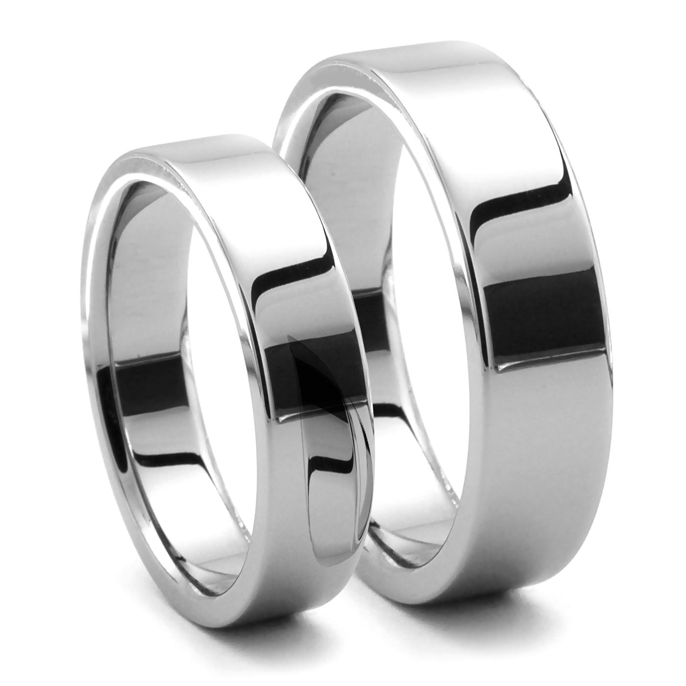 Piatto His Hers Tungsten Flat Bands J R Yates Wedding Bands