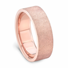 J.R. YATES 14K Rose Gold Wedding Band - Cross Hatch