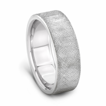 J.R. YATES Palladium Wedding Band, CROSS HATCH