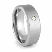 JAEGER Tungsten and Diamond Heavy Stone Ring
