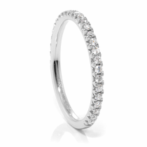 Ladies 14K White Gold & Diamond Wedding Band by Belloria