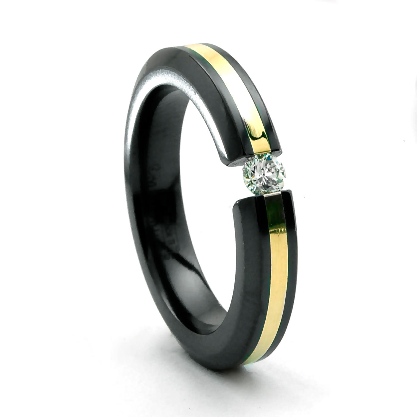 ring band gold black silver and tungsten brushed itm carbide mens wedding center bands women