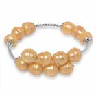 Ladies Sterling and Champagne Pearl Bracelet