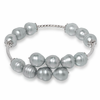 Ladies Sterling and Gray Pearl Bracelet