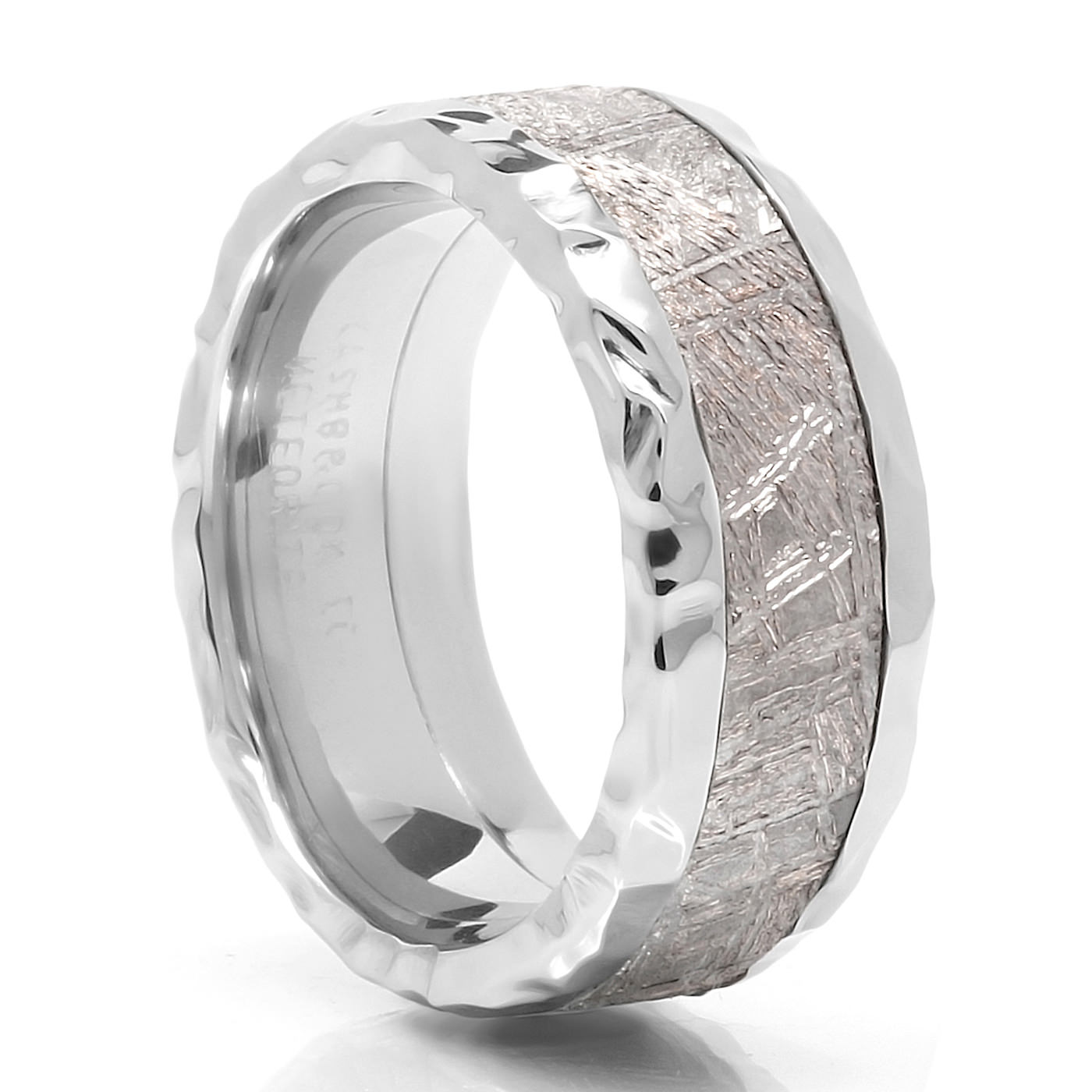rock meteorite ring meteorite wedding ring
