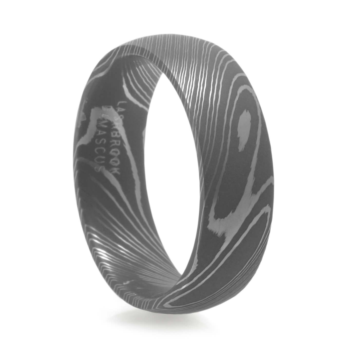 Men s Damascus Steel Ring – Lashbrook – Men s Wedding Band