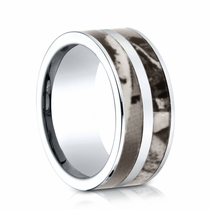 Mens 10mm Cobalt Ring With Camo Inlay