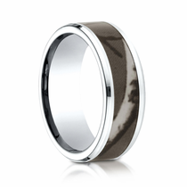 Mens 8mm Cobalt Ring With Camo Inlay