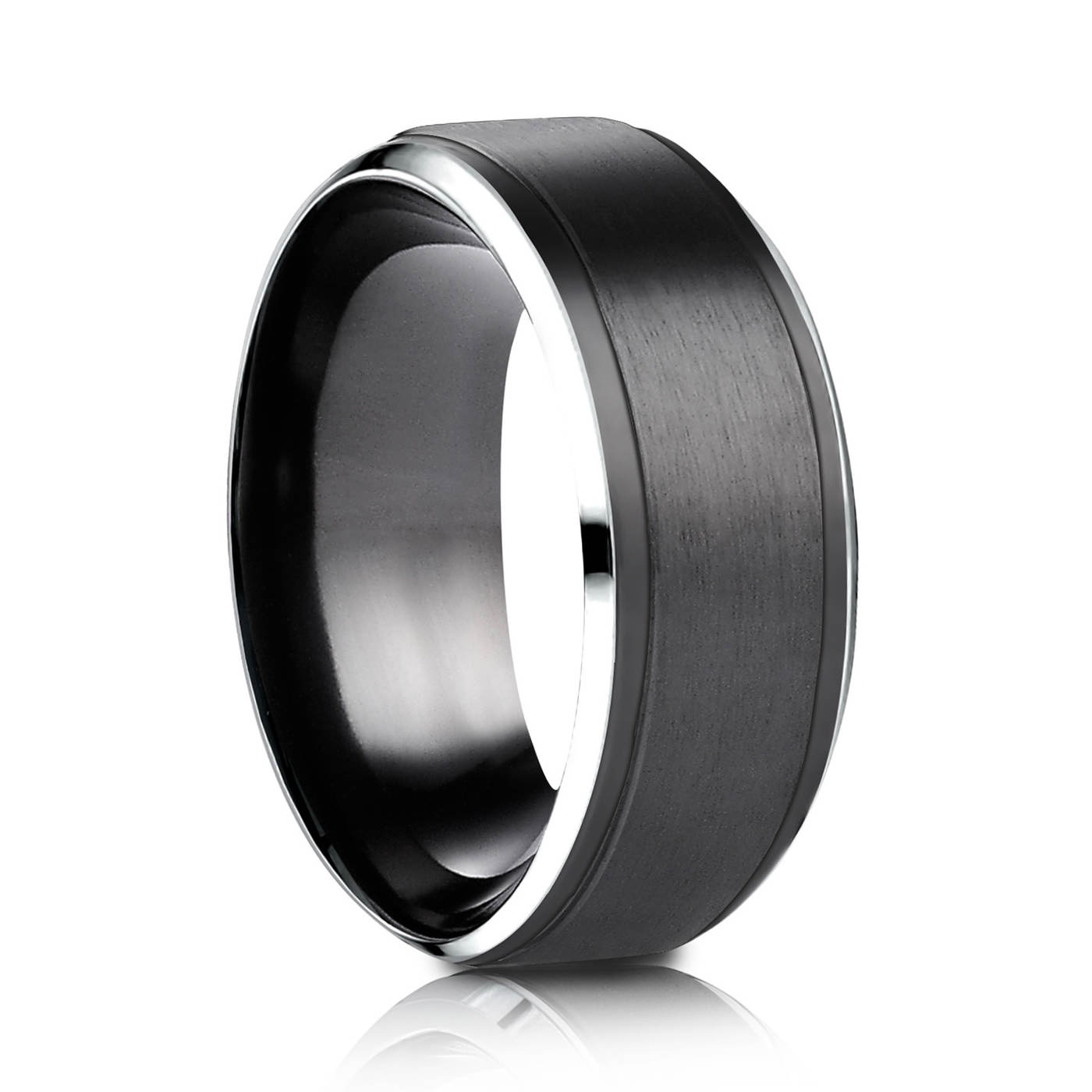 ring mens carbide fiber band s wedding black coolmanjeweller men tungsten rings carbon customized coolman with inlaied logo for