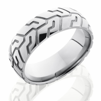 Mens Titanium Tire Ring by Lashbrook Designs