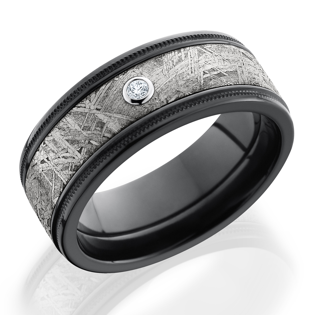 mens ring lashbrook meteorite square rings cobalt gibeonite wedding engagement band