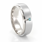 Palladium & Blue Diamond Ring by COGE