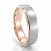 Palladium & Rose Gold Band by COGE