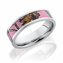 Pink Mossy Oak Camo 6mm Cobalt Ring