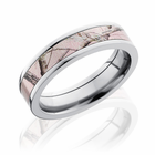 Pink Realtree Camo 5mm Titanium Band