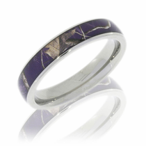 Purple Realtree Camo 4mm Titanium Ring