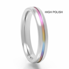 Rainbow  Anodized Titanium Ring - IRIS