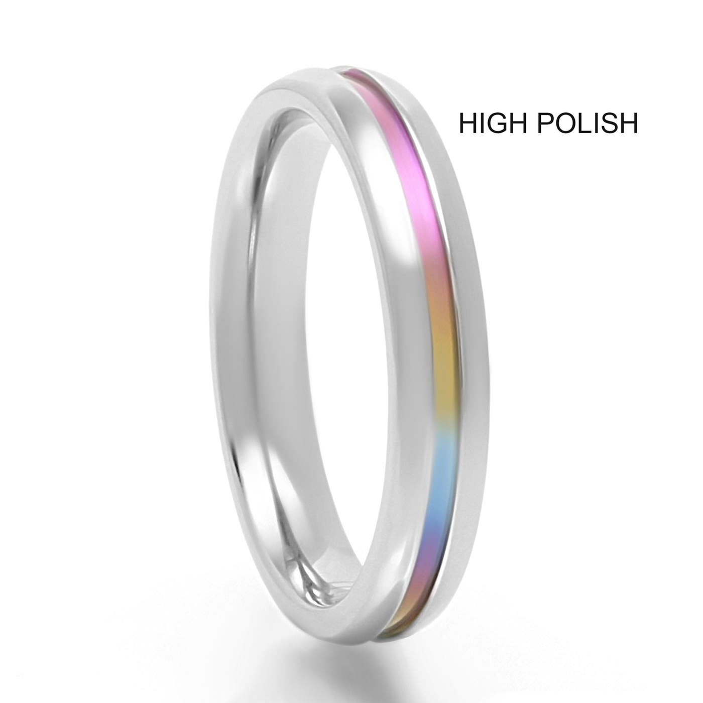 rainbow wedding image products personalized rings band