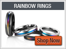 Titanium Rainbow Rings