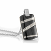 RAPTURE Black Ti & Diamond Pendant with Sterling Silver by EDWARD MIRELL