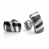RAPTURE Black Titanium Cufflinks with Diamonds