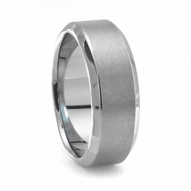 RASO Tungsten Wedding Band by Heavy Stone Rings