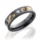Realtree Max4 Camo Diamond 5mm Black Zirconium Ring