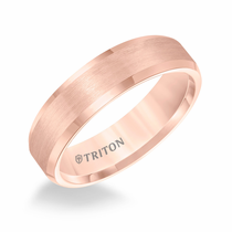 Rose Tungsten 6mm Bevel Edge Ring by Triton