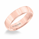 Rose Tungsten 6mm Domed Ring by Triton