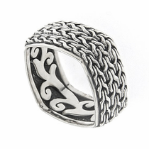 Samuel B Interlocking Weave Sterling Silver Ring