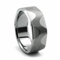 SIDEWINDER Tungsten Wedding Band