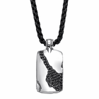 Sterling Silver Pendant With Black Sapphires