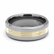 STRATUS Tungsten and Mokume Gane Ring by Jewelry Innovations