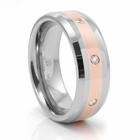 TAHAGI Tungsten, Red Gold and Diamond Ring by Heavy Stone