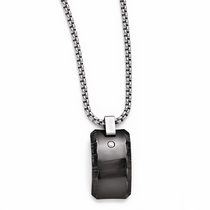 TEMPLAR Black Titanium Diamond Necklace by Edward Mirell