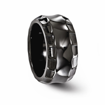 TEMPLAR Black Titanium Ring 12mm Wide by Edward Mirell