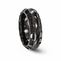 TEMPLAR Black Titanium Ring 8mm by Edward Mirell