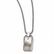 TEMPLAR Gray Titanium Diamond Necklace by Edward Mirell