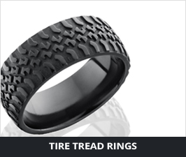 Tire Tread Mens Rings by Lashbrook